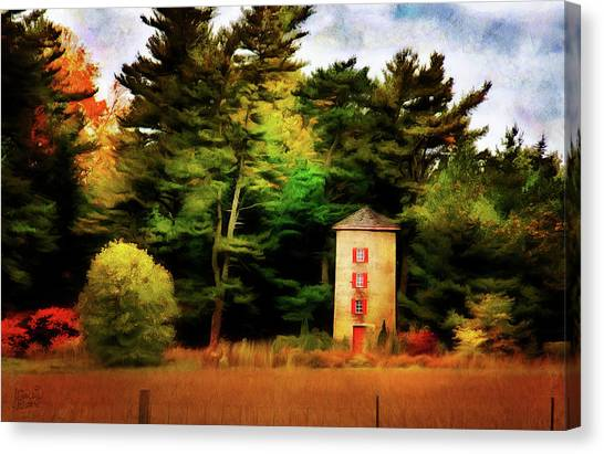 Small Autumn Silo Canvas Print
