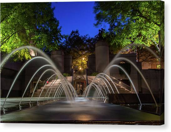 Small Fountain Canvas Print