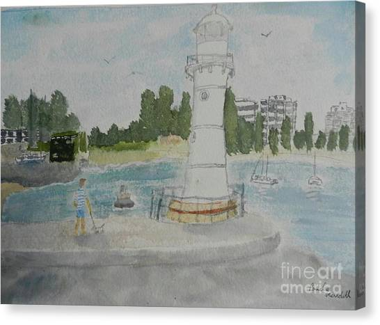 Small Lighthouse One Belmore Basin Canvas Print