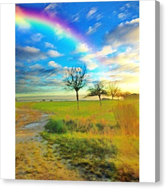 Paris Skyline Canvas Print - Small Rainbow #nature by Emmanuel Varnas