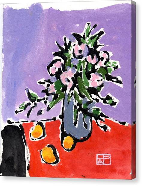 Small Still Life Canvas Print by Helen Pisarek