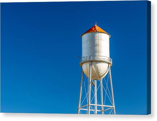 Tower Canvas Print - Small Town Water Tower by Todd Klassy