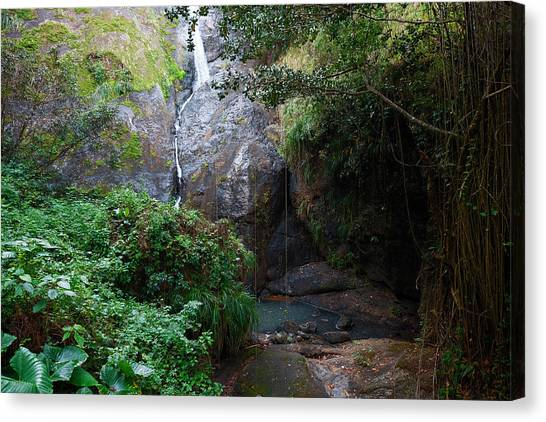 Canvas Print featuring the photograph Small Waterfall by Ricardo J Ruiz de Porras