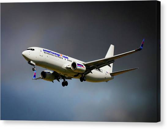 Boeing Canvas Print - Smartwings Boeing 737-900er by Smart Aviation