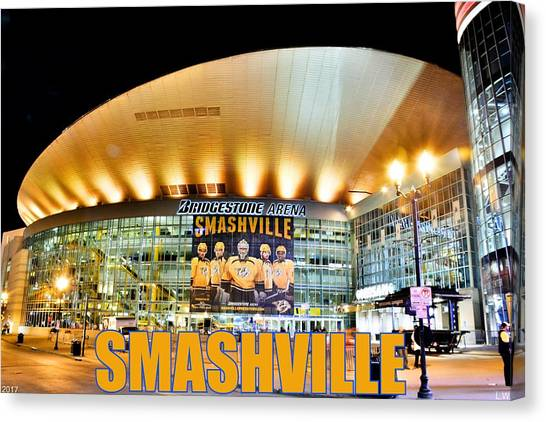 Western Conference Canvas Print - Smashville by Lisa Wooten
