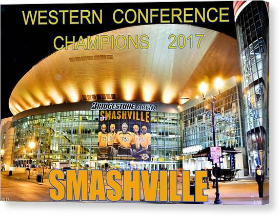 Western Conference Canvas Print - Smashville Western Conference Champions 2017 by Lisa Wooten