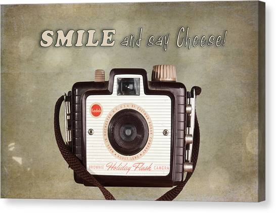 Flash Canvas Print - Smile And Say Cheese by Tom Mc Nemar