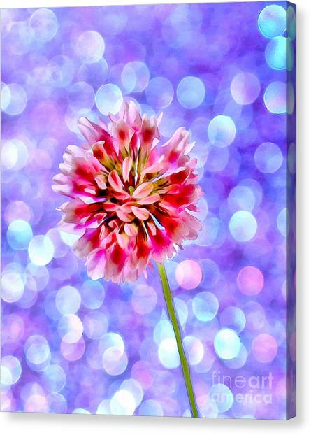 Clover Canvas Print - Smile Everyday by Krissy Katsimbras