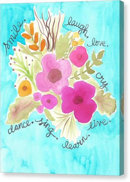 Smile. Laugh. Love. Canvas Print