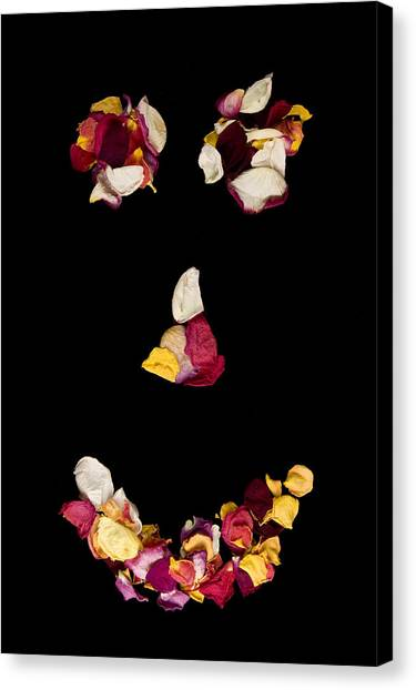 Smiley Rose Canvas Print