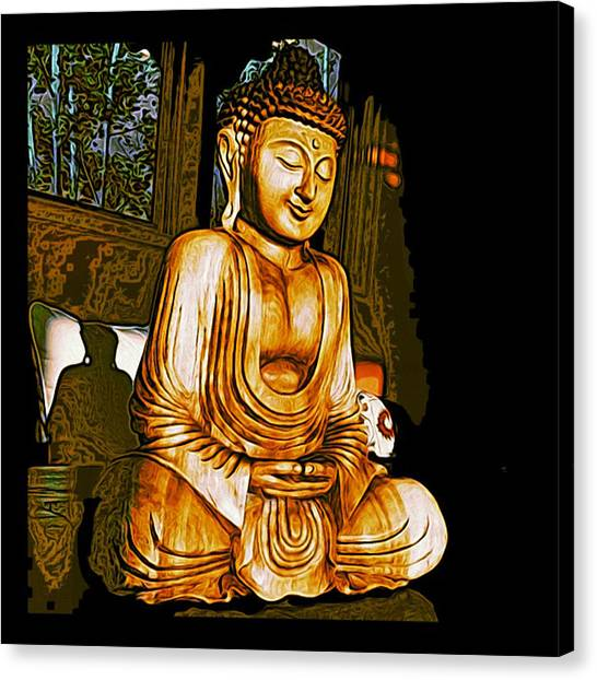 Smiling Buddha Canvas Print