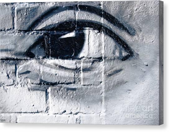 Smiling Graffiti Eye Canvas Print