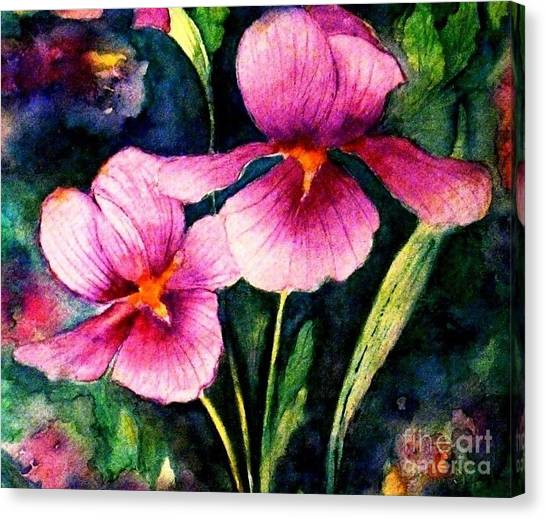 Smiling Iris Faces  Canvas Print