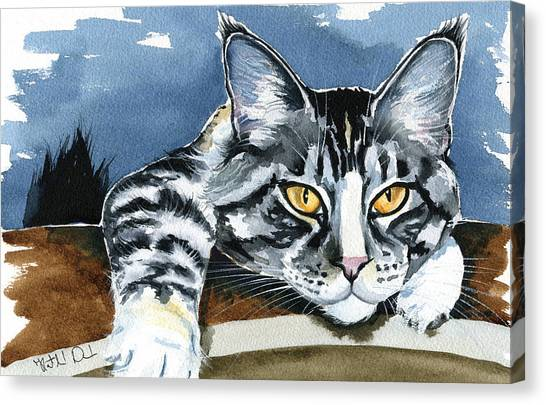 Smilla - Maine Coon Cat Painting Canvas Print