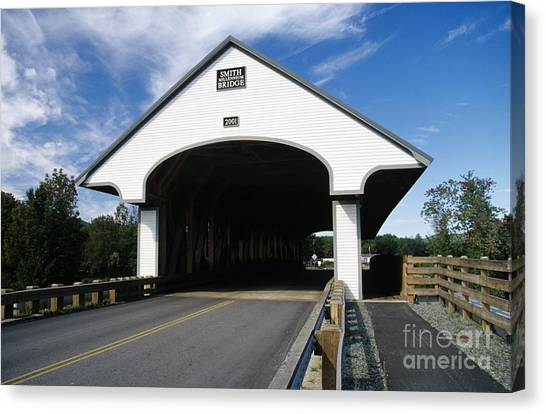 New Hampshire Canvas Print - Smith Covered Bridge - Plymouth New Hampshire Usa by Erin Paul Donovan