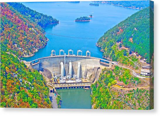 Smith Mountain Lake Dam Canvas Print