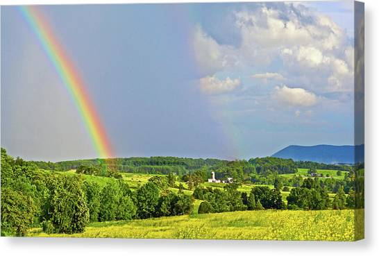 Smith Mountain Lake Rainbow Canvas Print