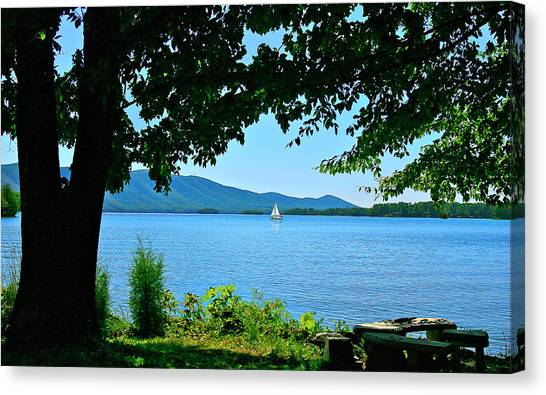 Smith Mountain Lake Sailor Canvas Print