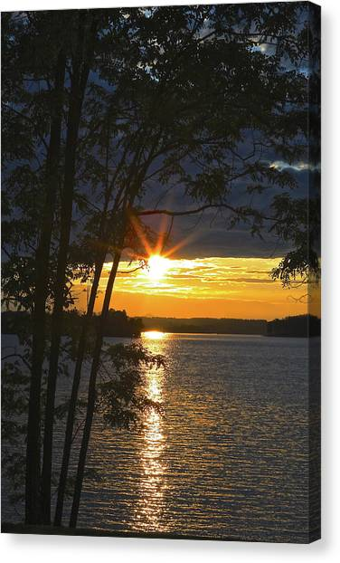 Smith Mountain Lake Summer Sunet Canvas Print