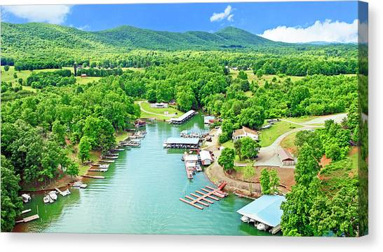 Smith Mountain Lake, Virginia. Canvas Print