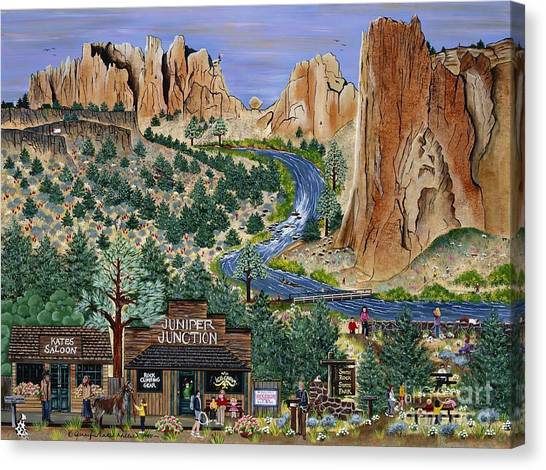 Smith Rock State Park Canvas Print