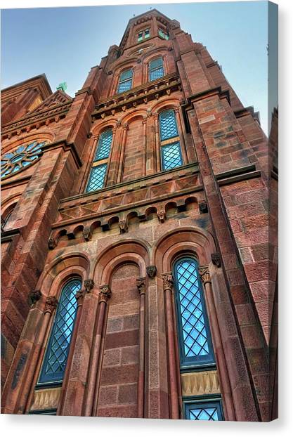 Smithsonian Institute Canvas Print - Smithsonian Castle Tower by Doug Swanson