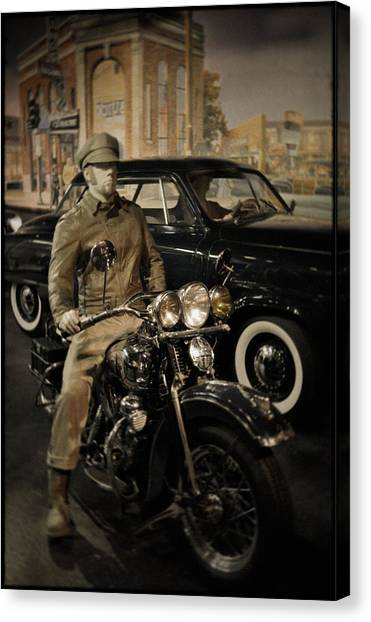 Smithsonian Institute Canvas Print - Smithsonian Institute Motorcycle by Kyle Hanson