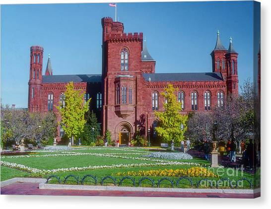 Smithsonian Institute Canvas Print - Smithsonian Institution Museum by Bob Phillips