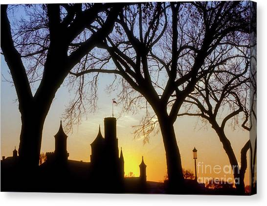 Smithsonian Institute Canvas Print - Smithsonian Institution Silhouette by Bob Phillips