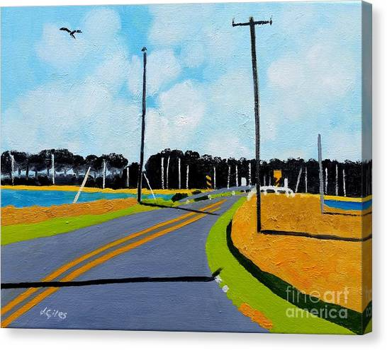 Smithville Boat Ramp Canvas Print by Lesley Giles