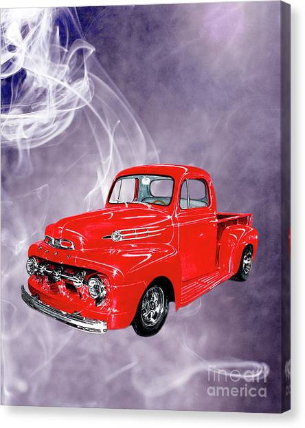 Canvas Print - Smok N Hot 52 Ford F 100 by Jack Pumphrey
