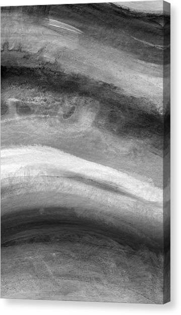 Ink Canvas Print - Smoke- Abstract Art By Linda Woods by Linda Woods