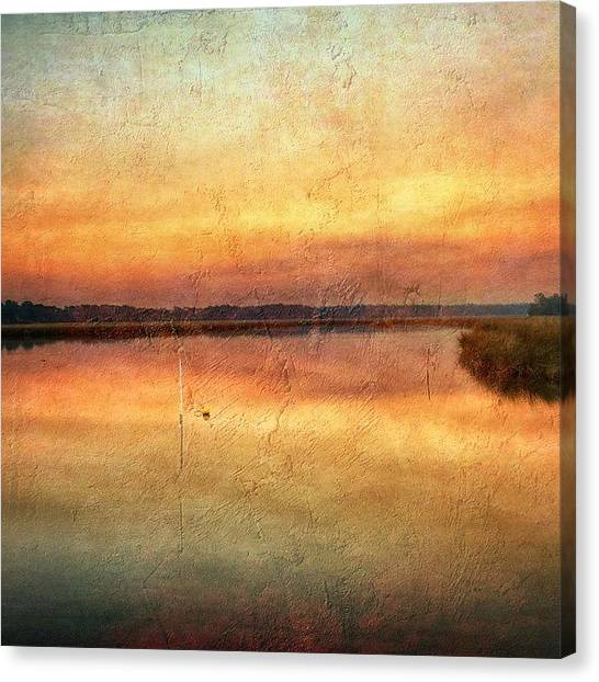 Swamps Canvas Print - Smoke Hovering In The Sky Over Old Fort by Joan McCool