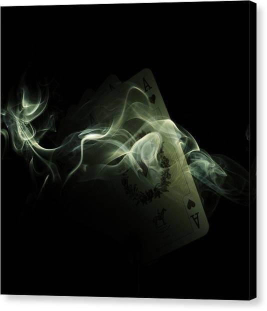 Ace Canvas Print - Smoke by Ivan Vukelic