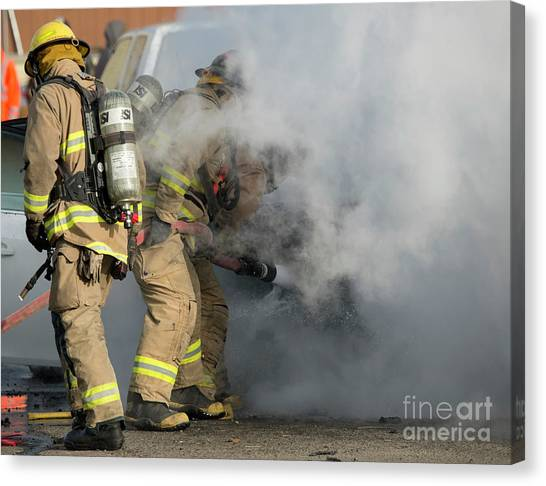First Responders Canvas Print - Smoke Obscured by Mike Dawson