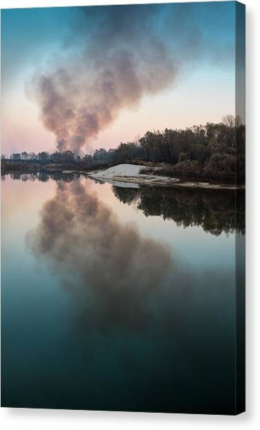 Smoke On The Water. Horytsya, 2014. Canvas Print