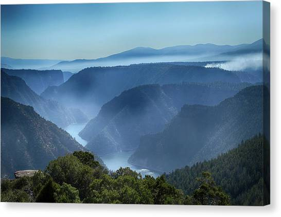 Smoke Over Flaming Gorge Canvas Print