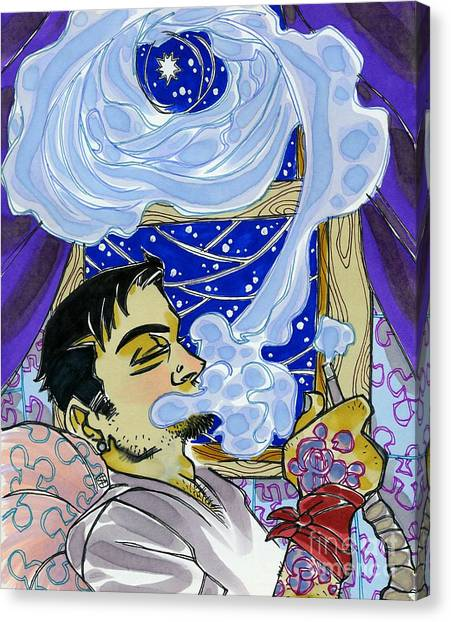 Smoke Ringed Stars Canvas Print