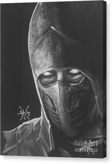 Mortal Kombat Canvas Print - Smoke by Tyler Haddox