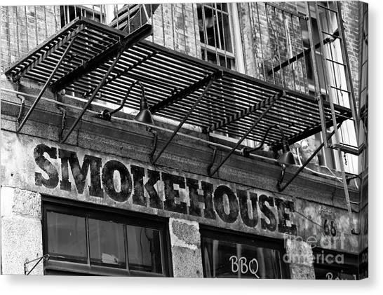 Smokehouses Canvas Print - Smokehouse by John Rizzuto