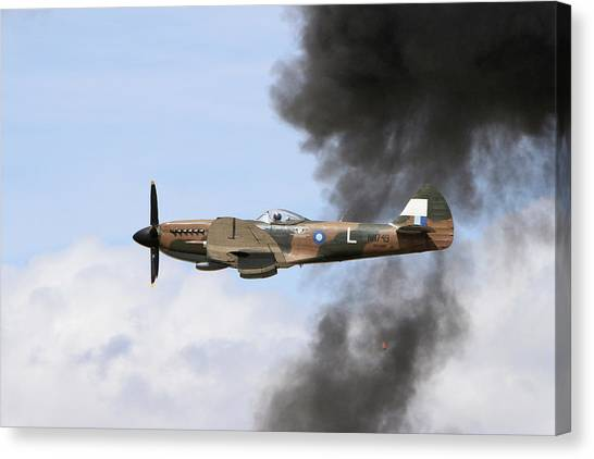 Wii Canvas Print - Smoke'n Spitfire  by Shoal Hollingsworth