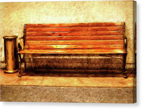 Smoker's Bench Canvas Print