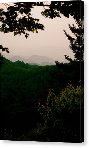 Smokey Mountains At New Found Gap Canvas Print by Kimberly Camacho