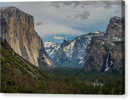 Smokey Yosemite Valley Canvas Print