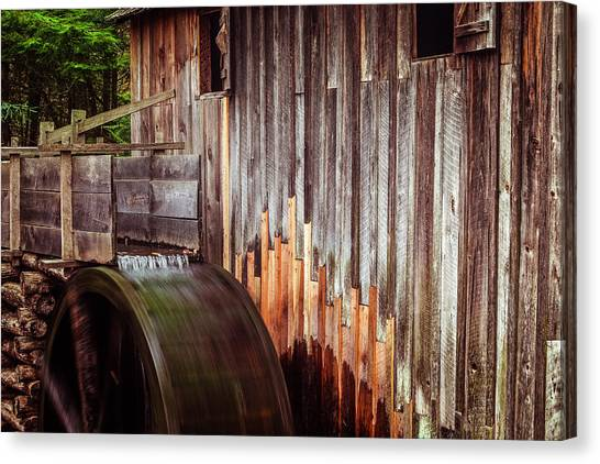 Grist Canvas Print - Smokies Mill by Andrew Soundarajan