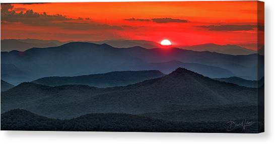 Smokies Sunset Canvas Print