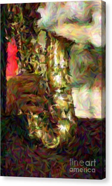 Smokin Jazz Canvas Print