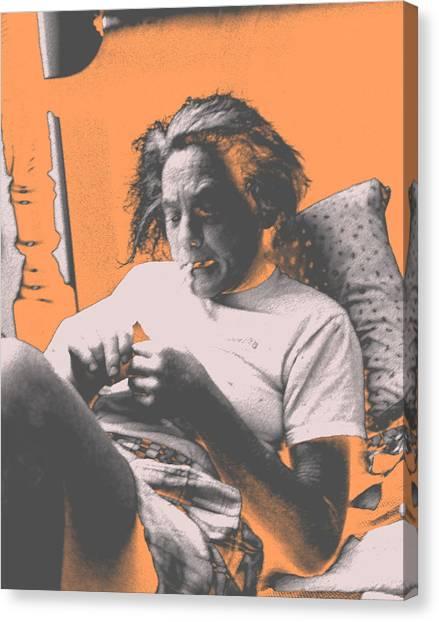 Smoking Hard Coke Canvas Print by John Toxey
