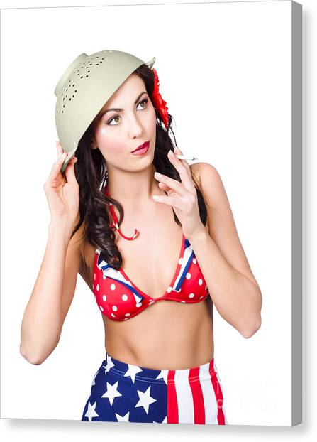 Special Forces Canvas Print - Smoking Hot American Military Pin-up Girl by Jorgo Photography - Wall Art Gallery