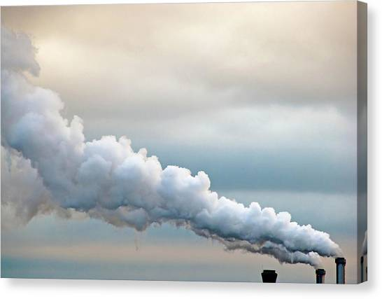 Factory Canvas Print - Smoking In The Clouds by Jane Kerrigan